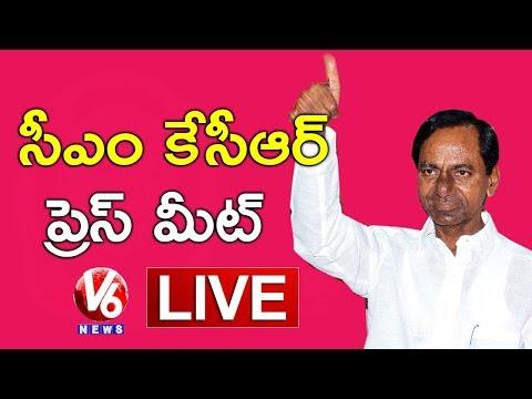 CM KCR Press Meet LIVE | Elected As TRSLP Leader | V6 News