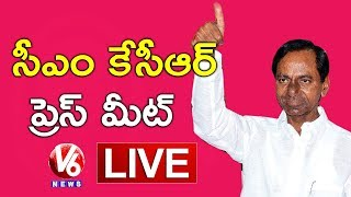 CM KCR Press Meet LIVE | Elected As TRSLP Leader
