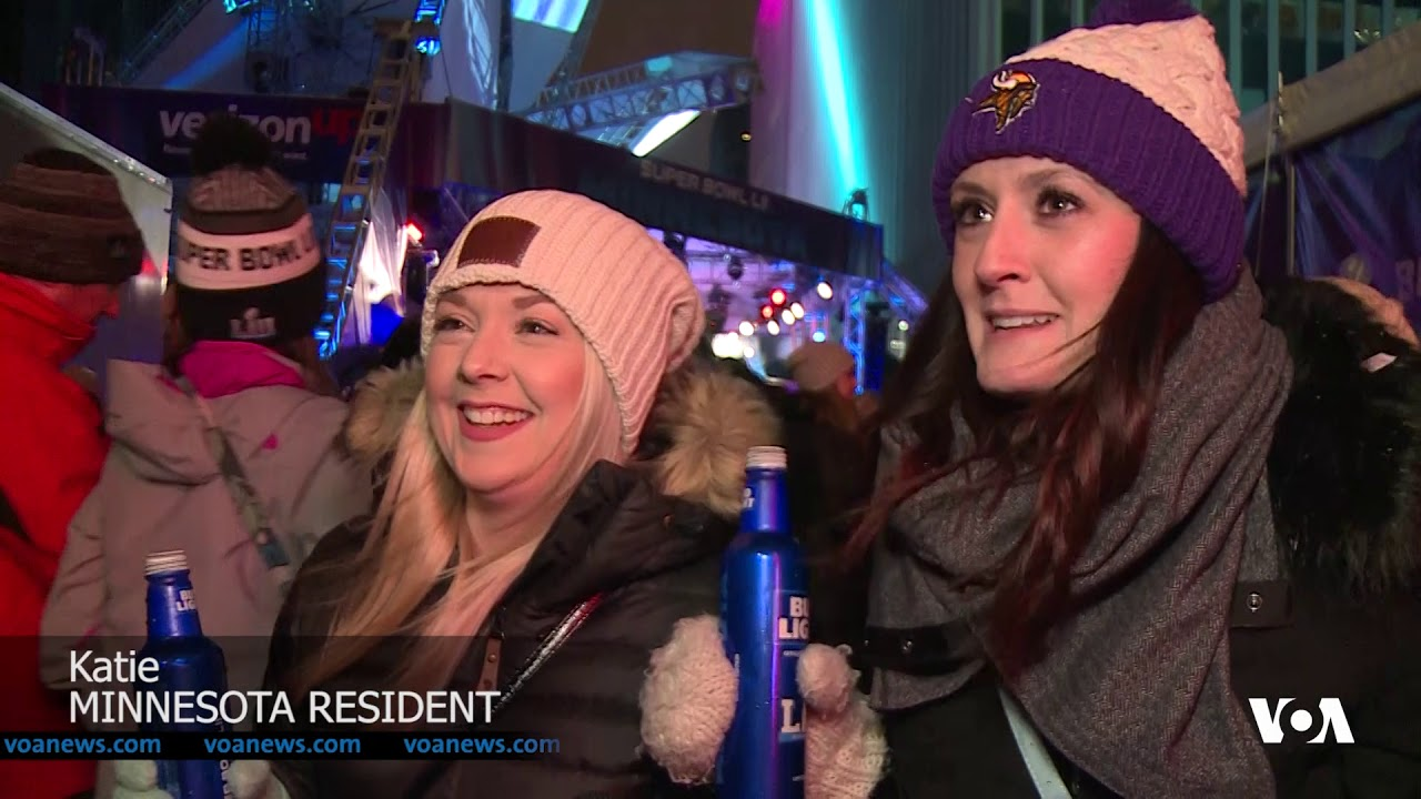 Thousands of Football Fans Party in the Streets on the Eve of the Super Bowl