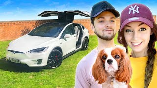 Ali-A + Clare's NEW CAR! 🚗 (Tesla Model X P100D)