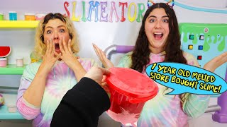 FIX this 1 Year old UGLY MELTED Store bought slime Challenge! Slimeatory #623