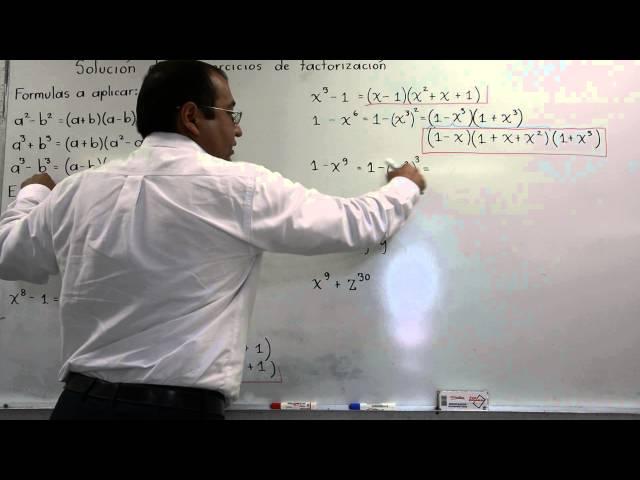 Ejercicios de factorización, suma de cuadrados, suma y resta de cubos