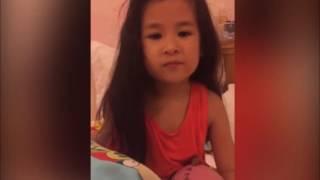 Con gái Huy Khánh lém lỉnh 'bắt' mẹ xin lỗi ba
