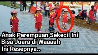 """Anak """"Perempuan"""" Sekecil Ini Bisa Juara di Lomba Sepatu Roda Tingkat.."""