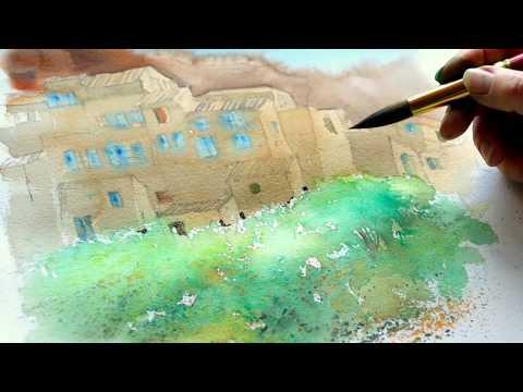 Monika Reiter, Aquarellstart, Technik, Landschaft, Watercolor, beginners, landscape