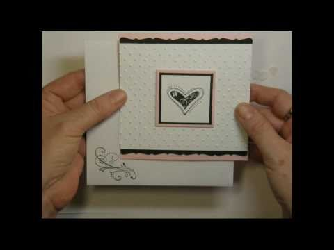 Pink & Black Heart Card