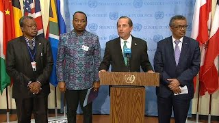 USA, DR Congo and WHO on the Ebola preparedness