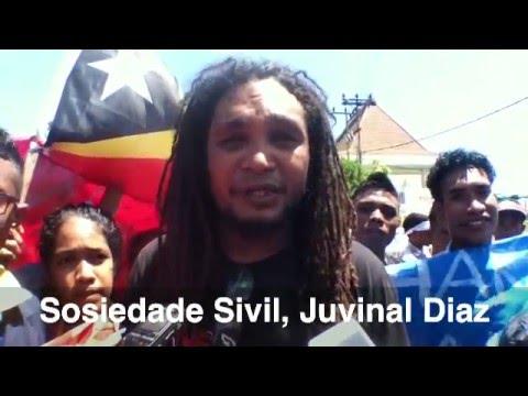 Demonstration Maritime Boundary with Australia, Dili, Timor-Leste, 23 Feb 2016
