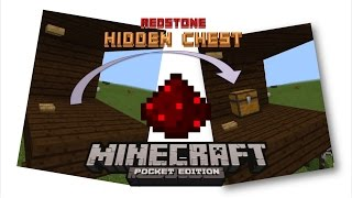 Redstone Hidden Chest 2.0 | Minecraft PE Redstone Tutorial