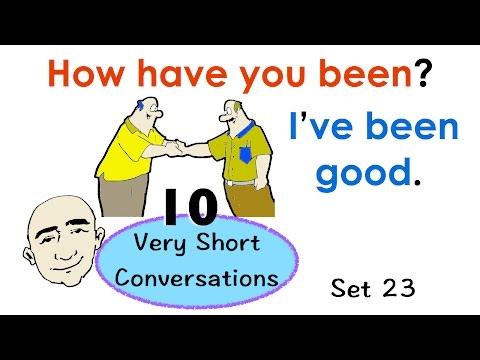 10 Very Short Conversations | Set 23 | Easy English Conversation Practice | Esl efl video