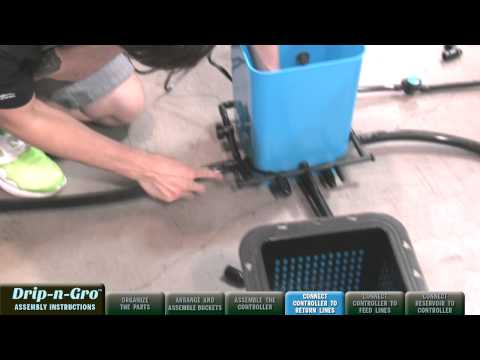 Drip-n-Gro™ Dual Top Feed Grow System Assembly Video ~ Hydroponics