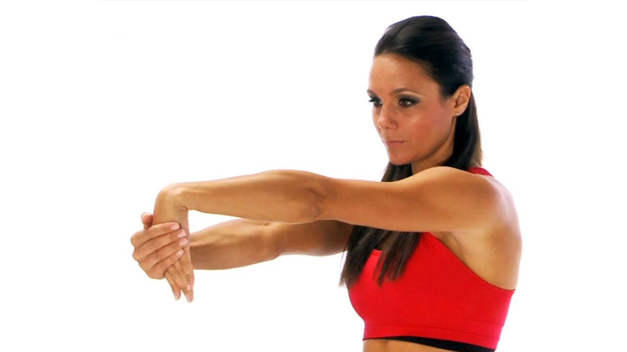 Stretching exercise - tennis elbow stretch - YouTube