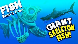 GIANT SKELETON FISH TAKES DOWN THE MEGALODON!? |  Feed And Grow Fish Gameplay