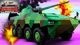 Мульт танки ARMADA MODERN TANKS #14 Онлайн игра Боевые машинки. Новая битва танков Видео для детей