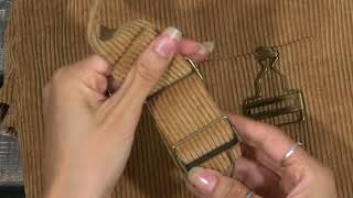 Corduroy Overall Dress Assembly