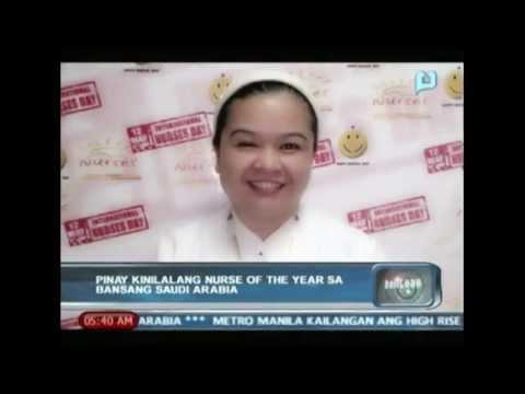 Pinay, kinilalang nurse of the year sa bansang Saudi Arabia