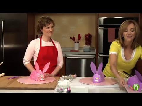 Pasteles de pascuas - Cómo hacer un pastel decorado como un conejo de pascuas