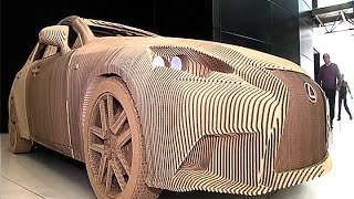 Lexus builds origami-inspired cardboard car.