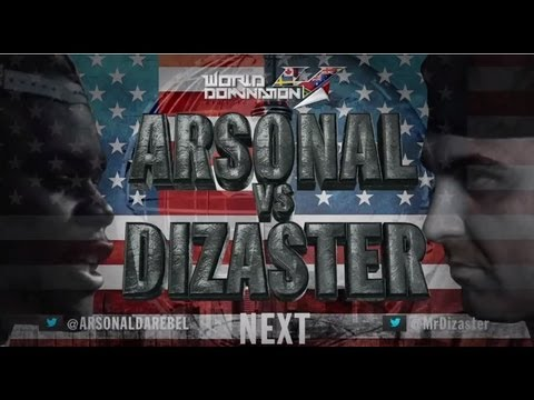 KOTD - Rap Battle - Dizaster vs Arsonal