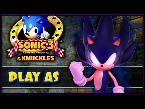Sonic 3 & Knuckles - How To Play As Dark Super Sonic