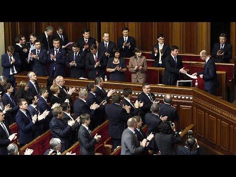 البرلمان الأوكراني يوافق على الحكومة الجديدة ، وتعيين وزراء أجانب في المالية و الإقتصاد و الصحة