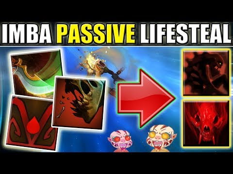 Triple Passive Lifesteal Imba Damage [Double Ultimate Abuse] Dota 2 Ability Draft