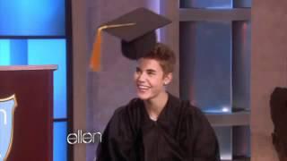 Justin Bieber Ganha Cerim Nia De Formatura No Quot The Ellen Degeneres Show Quot  Legendado
