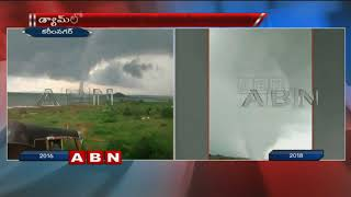 Visuals Of Big Tornado at Karimnagar Manair Dam