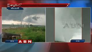 Visuals Of Big Tornado at Karimnagar Manair Dam  - netivaarthalu.com