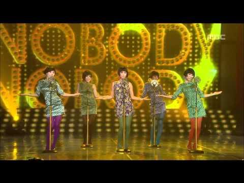 Wonder Girls - Nobody, 원더걸스 - 노바디, Music Core 20081018