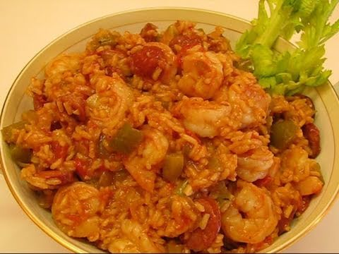 Betty's Cajun Shrimp and Sausage Jambalaya - YouTube