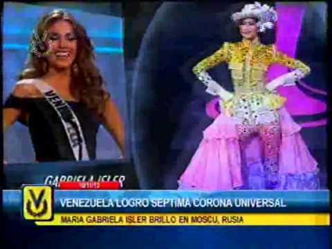 Reviva los mejores momentos de María Gabriela Isler en el Miss Universo