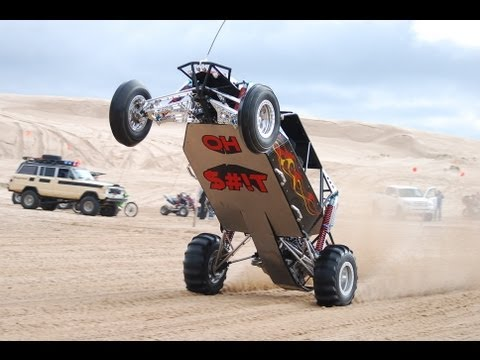 Silver Lake Sand Dunes Drag Racing Wheelies and Jumps