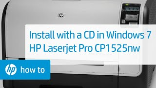 Installing Your HP Printer Using a CD in Windows 7 - HP Laserjet Pro CP1525nw