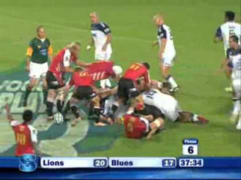 Super Rugby 2011 Highlights  Lions vs Blues - Super Rugby 2011- Rd 3- Lions vs Blues