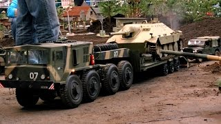 RC XXL SCALE MILITARY VEHICLES IN ACTION / Erlebniswelt Modellbau Erfurt 2016