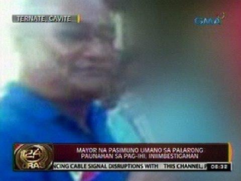 Mayor ng Ternate, Cavite na pasimuno umano sa palarong paunahan sa pag-ihi, iniimbestigahan