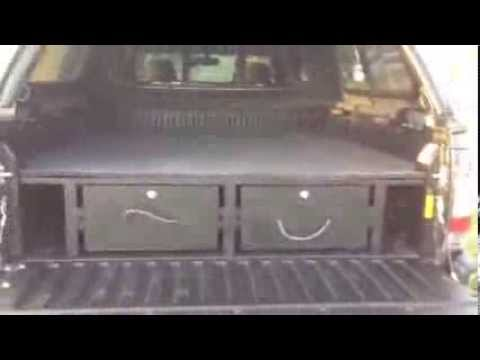 Diy truck vault for tacoma camper youtube - Homemade truck bed drawers ...