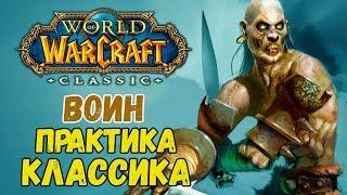 World of warcraft classic ( WOW ) стрим #4 . Прокачка pve прот warrior ( воин ) 1-60 Практика