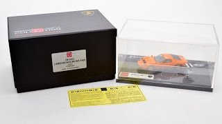 EIDOLON 1/43 Lamborghini Miura P400 1967 V12 engine with Orange / Gold New  73262