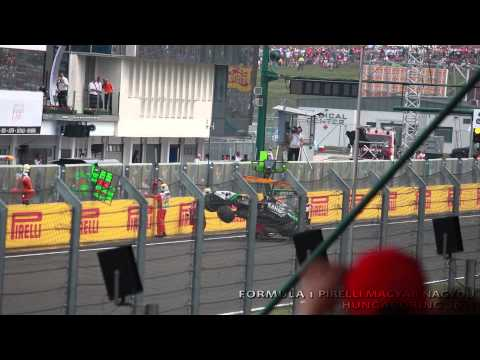 Sergio Perez Crash / Formula 1 Hungarian Thriller