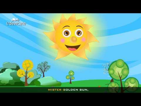 Edewcate english rhymes | Mr Sun Sun Mister Golden Sun Nursery Rhyme