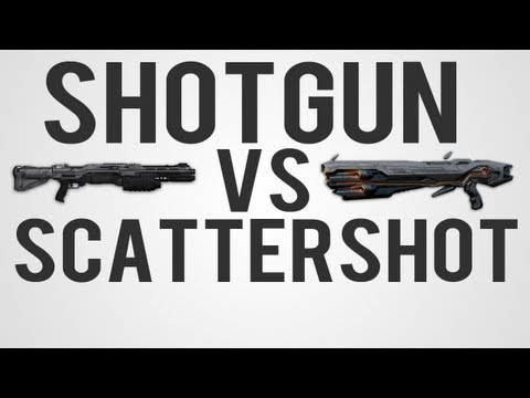 Halo 4 Comparison - Shotgun vs Scattershot