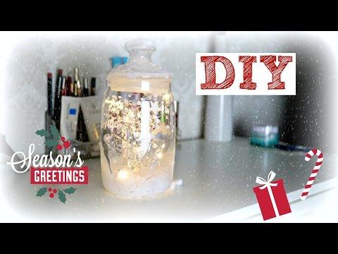 DIY | Новогодняя баночка с огоньками | Сделай сам