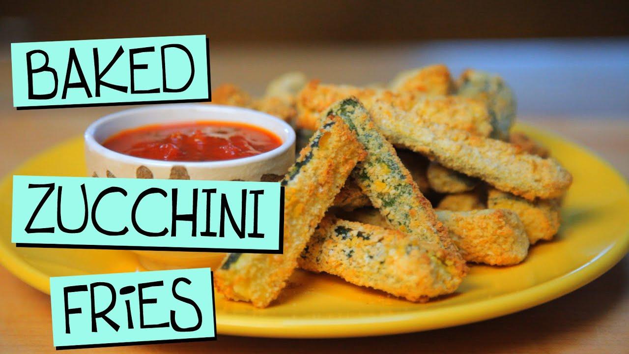 Baked Zucchini Fries - ZOMG! - YouTube