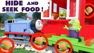 Hide and Seek Game With Pretend Play Food at McDonalds with the Funny Funlings