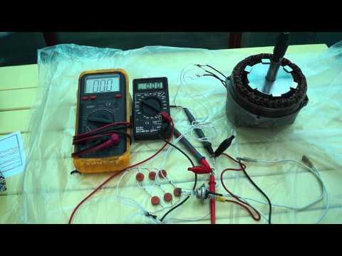 Перемотан статор генератора. Нагрузка 100Вт ламп. Самодельный генератор ветряка ТЕСТ 5 и 6