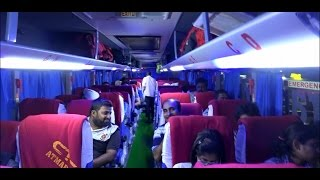 Inside & Outside View Of Newly Launched Superfine Multi Axle Scania Bus Departing Mumbai For Goa