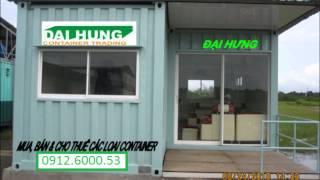 mua bán cho thuê container văn phòng, container khô...