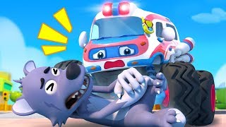 Big Bad Wolf and Monster Ambulance | Monster Truck | Fire Truck, Police Truck | Kids Songs | BabyBus